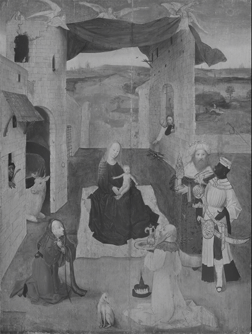 Adoration of the Magi, Rotterdam; Infrared light