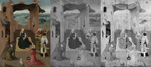 Adoration of the Magi, Rotterdam; Parallel view