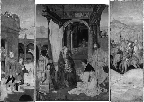 Adoration of the Magi, 's-Hertogenbosch; Infrared reflectography
