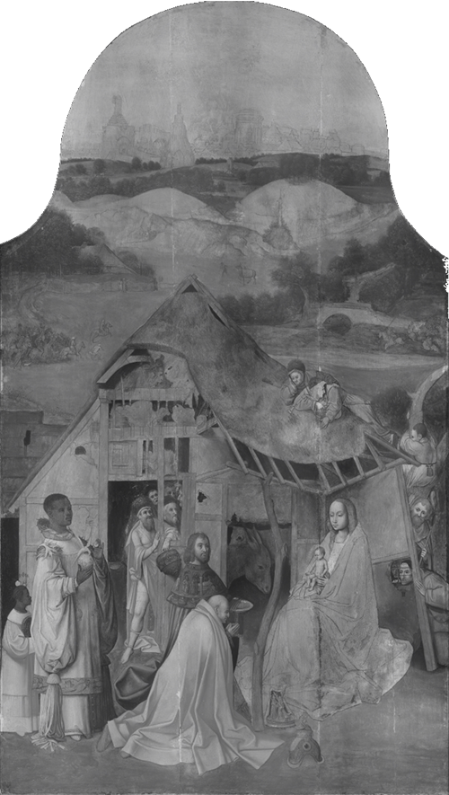Adoration of the Magi,'s-Hertogenbosch; Infrared photography
